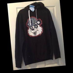Neff Panda Fang Black Unisex Hoodie Large NEW!
